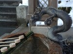 手水舎の龍〜20110104