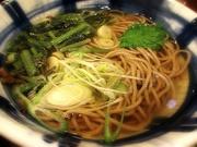 葉わさび蕎麦〜20131127